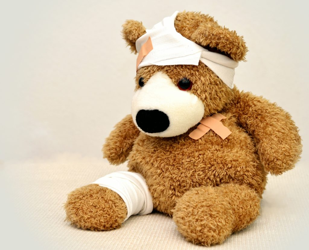 Bear with bandages